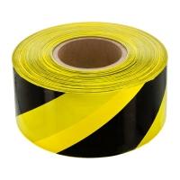Лента оградительная желто черная